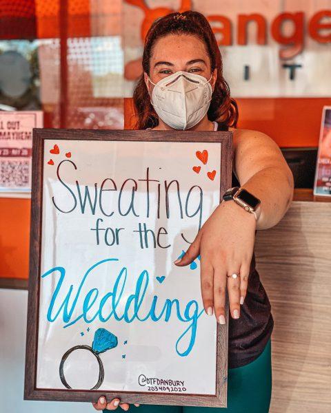 Sweating for the Wedding at Orangetheory Fitnes Danbury